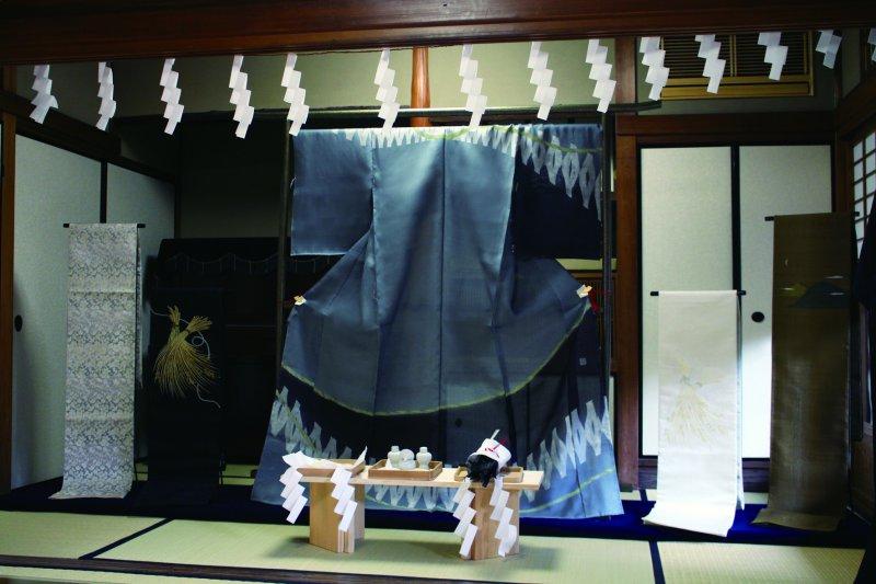 テーマ「恩恵」に合わせ日本の恵を表した展示です